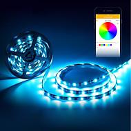 abordables Tiras de Luces LED-BRELONG® 5 m Tiras de Luces RGB 150 LED 5050 SMD RGB Impermeable / Decorativa / Auto-Adhesivas Alimentado por USB 1pc