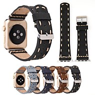 billige -Urrem for Apple Watch Series 4/3/2/1 Apple Klassisk spænde Ægte læder Håndledsrem