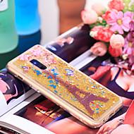 Недорогие Чехлы и кейсы для Galaxy А-Кейс для Назначение SSamsung Galaxy A8 2018 Защита от удара / Сияние и блеск Кейс на заднюю панель Эйфелева башня / Сияние и блеск Мягкий ТПУ для A8 2018