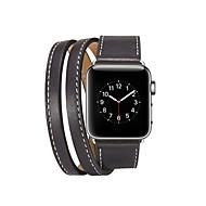 baratos -faixa de relógio para maçã relógio série 4/3/2/1 maçã clássico fivela pulseira de couro genuíno