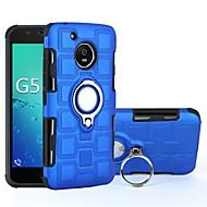 お買い得  携帯電話ケース-ケース 用途 Motorola G5 Plus / G5 耐衝撃 / バンカーリング バックカバー 鎧 ハード PC のために モトG5プラス / Moto G5