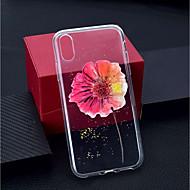 Недорогие Кейсы для iPhone 8 Plus-Кейс для Назначение Apple iPhone XR / iPhone XS Max Прозрачный / С узором Кейс на заднюю панель Цветы Мягкий ТПУ для iPhone XS / iPhone XR / iPhone XS Max
