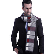 cheap -Men's Work / Basic Rectangle Scarf - Color Block Pleated / Fall / Winter