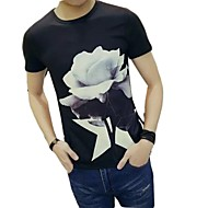 cheap -Men's Basic / Street chic T-shirt - Floral