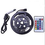 abordables Tiras de Luces LED-1m Sets de Luces 30 LED SMD5050 1 Controlador remoto de 24 teclas RGB Impermeable / Cortable / USB 5 V 1 juego