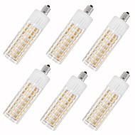 お買い得  LED コーン型電球-6本 7.5 W 937 lm E11 LEDコーン型電球 T 100 LEDビーズ SMD 2835 温白色 / クールホワイト 85-265 V