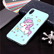 abordables Coques pour iPhone XR-Coque Pour Apple iPhone XR / iPhone XS Max Phosphorescent / Motif Coque Licorne Flexible TPU pour iPhone XS / iPhone XR / iPhone XS Max