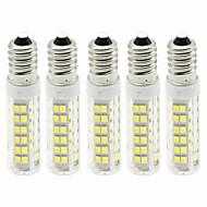 abordables Bombillas LED de Mazorca-5pcs 4.5 W 450 lm E14 Bombillas LED de Mazorca T 76 Cuentas LED SMD 2835 Regulable Blanco Cálido / Blanco Fresco 110 V