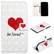 Недорогие Кейсы для iPhone 8 Plus-Кейс для Назначение Apple iPhone XS / iPhone XS Max Кошелек / Бумажник для карт / со стендом Чехол С сердцем Твердый Кожа PU для iPhone XS / iPhone XR / iPhone XS Max