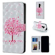 Недорогие Чехлы и кейсы для Galaxy S-Кейс для Назначение SSamsung Galaxy S9 Plus / S9 Кошелек / Бумажник для карт / со стендом Чехол дерево Твердый Кожа PU для S9 / S9 Plus / S8 Plus