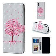 Недорогие Кейсы для iPhone 8-Кейс для Назначение Apple iPhone XR / iPhone XS Max Кошелек / Бумажник для карт / со стендом Чехол дерево Твердый Кожа PU для iPhone XS / iPhone XR / iPhone XS Max