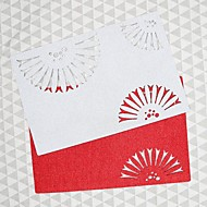 abordables Textiles para el Hogar-Hogar multifunción creativo decoración verde artesanía ventilador hueco de poliéster almohadilla de aislamiento antideslizante mantel individual