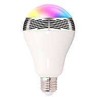 abordables Bombillas LED Inteligentes-1 unid inteligente rgb bombilla bluetooth 4.0 altavoces de audio lámpara regulable e27 led inalámbrico bombilla de luz de color cambiando a través de control de la aplicación wifi