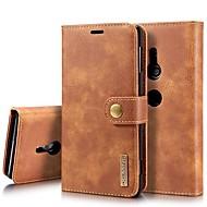 preiswerte Handyhüllen-Hülle Für Sony Xperia XZ1 / Xperia XZ2 Kreditkartenfächer / Stoßresistent / mit Halterung Ganzkörper-Gehäuse Solide Hart Echtleder für Xperia XZ2 / Xperia XZ2 Compact / Sony Xperia XZ3