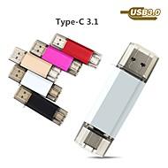 Ants 65GB USB 플래시 드라이브 USB 디스크 USB 3.0 / 유형 -C 메탈 쉘 불규칙한 커버