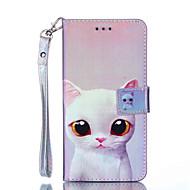זול -מגן עבור Huawei Y6 (2017)(Nova Young) / Huawei Mate 20 Lite ארנק / מחזיק כרטיסים / עמיד בזעזועים כיסוי מלא חתול קשיח עור PU ל Honor 6A / Huawei Honor 5C / Huawei Mate 20 lite