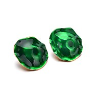 cheap -1 Pair Women's Geometrical Stud Earrings - Silicone Stylish Jewelry Green For Daily Office & Career