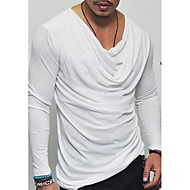 cheap -men's asian size slim t-shirt - solid colored round neck