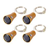 お買い得  -0.75m ストリングライト 8 LED 温白色 / クールホワイト / ピンク ソーラー駆動 / パーティー / 装飾用 5 V / ソーラー駆動 4本