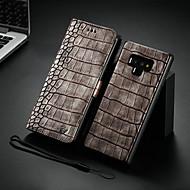 Недорогие Чехлы и кейсы для Galaxy Note-WHATIF Кейс для Назначение SSamsung Galaxy S9 Plus / Note 9 Кошелек / Бумажник для карт / со стендом Чехол Однотонный Твердый Кожа PU для S9 / S9 Plus / Note 9