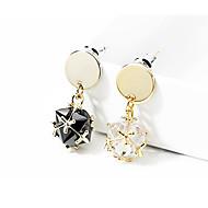 levne -Dámské Lustr Visací náušnice - Pozlacené Umělé diamanty Luxus Šperky Bílá / Černá Pro Svatební Párty Rande 1 Pair