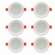 お買い得  -6本 5 W 360 lm 10 LEDビーズ 取り付けやすい 埋め込み式 LEDダウンライト 温白色 クールホワイト 220-240 V ホーム/オフィス リビングルーム/ダイニングルーム