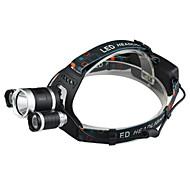 preiswerte Taschenlampen, Laternen & Lichter-Stirnlampen LED LED 3 Sender 2400 lm 4.0 Beleuchtungsmodus inklusive Ladegerät Wasserfest, Stoßfest, Wiederaufladbar Camping / Wandern / Erkundungen, Für den täglichen Einsatz, Radsport