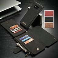 Недорогие Чехлы и кейсы для Galaxy Note-CaseMe Кейс для Назначение SSamsung Galaxy S9 Plus / Note 9 Кошелек / Бумажник для карт / со стендом Чехол Однотонный Твердый Кожа PU для S9 / S9 Plus / S8 Plus