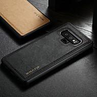 Недорогие Чехлы и кейсы для Galaxy S7 Edge-WHATIF Кейс для Назначение SSamsung Galaxy S8 / Note 9 Защита от удара / Своими руками Кейс на заднюю панель Однотонный Твердый Кожа PU для S9 / S9 Plus / S8 Plus