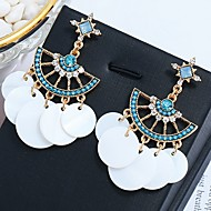 cheap -1 Pair Women's Classic Drop Earrings - Shell Stylish Classic Jewelry White / Blue / Pink For Wedding Holiday Going out