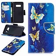 Недорогие Чехлы и кейсы для Galaxy S7-Кейс для Назначение SSamsung Galaxy S9 Plus / S8 Plus Кошелек / Бумажник для карт / со стендом Чехол Бабочка Твердый Кожа PU для S9 / S9 Plus / S8 Plus