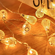 voordelige -2m Verlichtingsslingers 10 LEDs Geel Feest / Decoratief 5 V 1 set