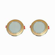 お買い得  -2pcs 5 W 360 lm 10 LEDビーズ 取り付けやすい 埋め込み式 LEDダウンライト 温白色 クールホワイト 220-240 V ホーム/オフィス リビングルーム/ダイニングルーム