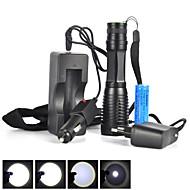 preiswerte Taschenlampen, Laternen & Lichter-5 LED Taschenlampen LED LED Sender 1800 lm 5 Beleuchtungsmodus inklusive Batterie Taktisch, Zoomable-, Wasserfest Camping / Wandern / Erkundungen, Für den täglichen Einsatz, Radsport