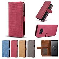 Недорогие Чехлы и кейсы для Galaxy Note 8-Кейс для Назначение SSamsung Galaxy Note 9 / Note 8 Кошелек / Бумажник для карт / Защита от удара Чехол Однотонный Твердый Кожа PU для Note 9 / Note 8 / Note 5