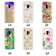 cheap -Case For Samsung Galaxy S9 Plus / S9 Pattern Back Cover Flower Soft TPU for S9 / S9 Plus / S8 Plus
