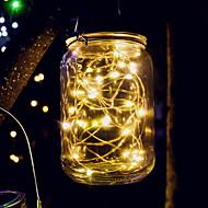 voordelige -0.5m Verlichtingsslingers 20 LEDs Geel Zonne-energie / Feest Op Zonne-Energie 1 set