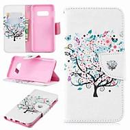Недорогие Чехлы и кейсы для Galaxy S6 Edge Plus-Кейс для Назначение SSamsung Galaxy S9 Plus / S8 Plus Кошелек / Бумажник для карт / со стендом Чехол дерево Твердый Кожа PU для S9 / S9 Plus / S8 Plus