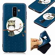 Недорогие Чехлы и кейсы для Galaxy A5(2016)-Кейс для Назначение SSamsung Galaxy A8 Plus 2018 / А7 (2018) С узором Кейс на заднюю панель Сова Мягкий ТПУ для A6 (2018) / A6+ (2018) / A7(2018)