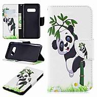 Недорогие Чехлы и кейсы для Galaxy S8-Кейс для Назначение SSamsung Galaxy S9 Plus / S8 Plus Кошелек / Бумажник для карт / со стендом Чехол Панда Твердый Кожа PU для S9 / S9 Plus / S8 Plus
