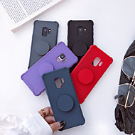 Недорогие Чехлы и кейсы для Galaxy S7-Кейс для Назначение SSamsung Galaxy S9 Plus / S9 Защита от удара / со стендом / Матовое Кейс на заднюю панель Однотонный Мягкий ТПУ для S9 / S9 Plus / S8 Plus