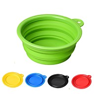 cheap -1/0.35 L Rodents / Dogs / Cats Bowls & Water Bottles / Feeders / Food Storage Pet Bowls & Feeding Durable / Folding Red / Green / Blue