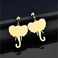 cheap -1 Pair Women's Classic Drop Earrings - Gold Plated Animal Classic Jewelry Gold For Gift Street Holiday