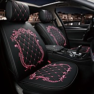 cheap Car Seat Covers-ODEER Car Seat Cushions Seat Cushions Black / Pink / Black Gold / Black / White PU Leather Common For universal All years All Models