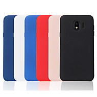 cheap Samsung Accessories-Case For Samsung Galaxy J7 (2017) / J2 PRO 2018 Frosted Back Cover Solid Colored Soft TPU for J8 (2018) / J7 Prime / J7 (2017)