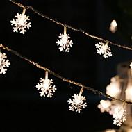 voordelige -1m Verlichtingsslingers 10 LEDs Warm wit Feest 5 V 1 set