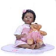 お買い得  -NPKCOLLECTION リボーンドール ガールドール 赤ちゃん(女) 24 インチ キュート 新デザイン 人工インプラントブラウンアイズ 子供 女の子 おもちゃ ギフト