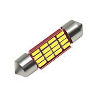 povoljno -SO.K 4kom 39mm Automobil Žarulje 3 W SMD 4014 250 lm 16 LED Svjetla u unutrašnjosti Za Univerzális Sve godine