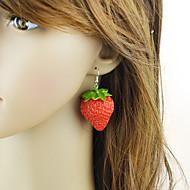 levne -Dámské Ozdobný Visací náušnice - Jahody stylové Cute Style Šperky Červená Pro Denní Rande 1 Pair