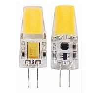 povoljno -SENCART 1pc 3 W LED svjetla s dvije iglice 450 lm G4 T 1 LED zrnca COB Vodootporno Zatamnjen Toplo bijelo Hladno bijelo 12-24 V